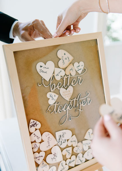 """Better together"" guestbook"